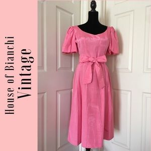Vintage House of Bianchi Pink Garden Party Dress